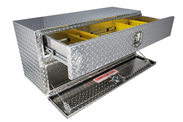 brute pro series contractor underbody toolbox open