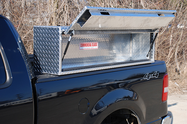 brute pro series hd topsider toolbox on truck open