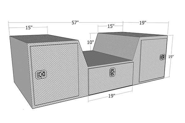 brute pro series v shape 5th wheel toolbox dimensions