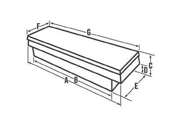 delta aluminum single lid crossover toolbox chart