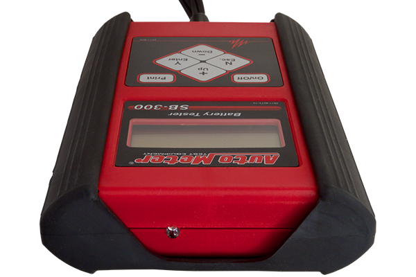 autometer sb 300 intelligent handheld battery tester case installed