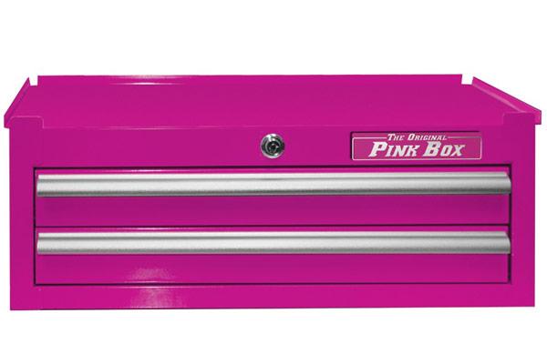 pink box 26in intermediate tool chest closed