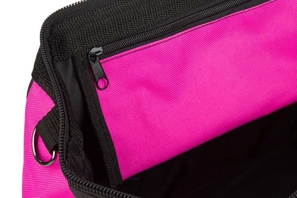 the original pink box tool bag detail