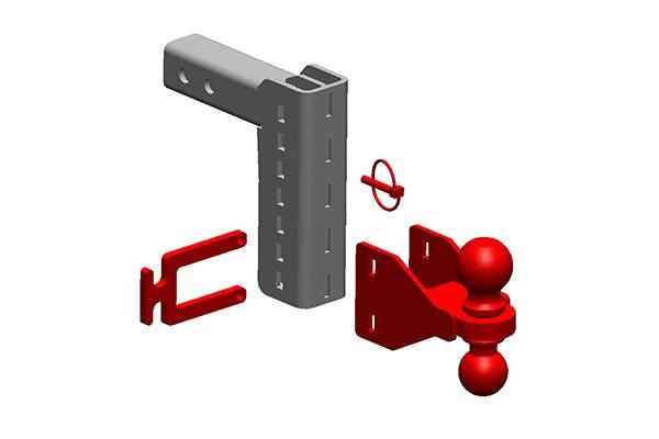 inventive xd adjustable hitch drop ball mounts parts