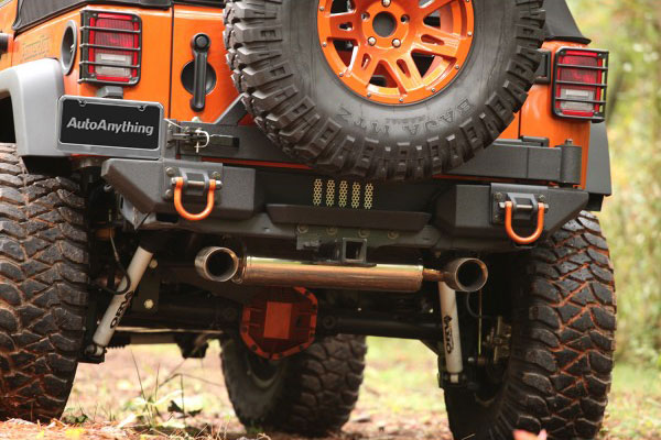 rugged ridge jeep receiver hitch kit installed