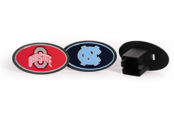 siskiyou sports ncaa plastic hitch covers collage