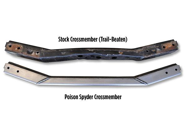 poison spyder transmission crossmember stock ps