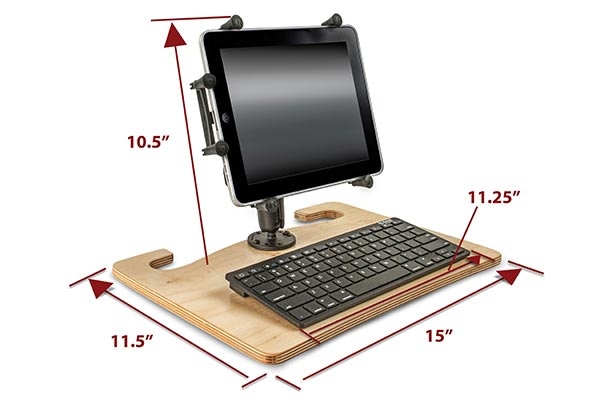 autoexec wheelmate extreme mobile work surface dimensions tablet mount
