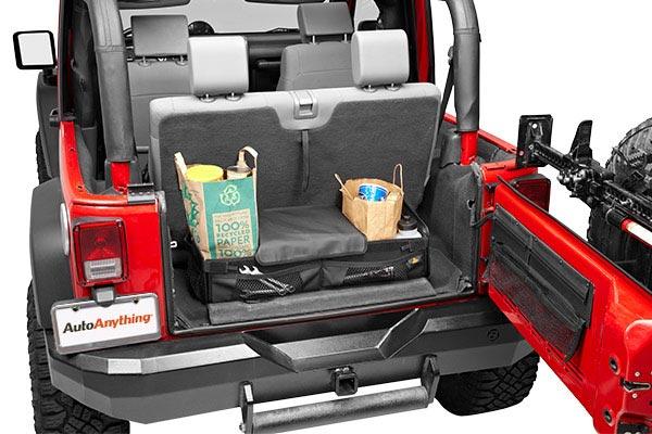bestop roughrider soft storage cargo trunk organizer loaded
