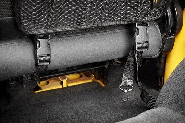 bestop roughrider soft storage seat back organizer bottom clip