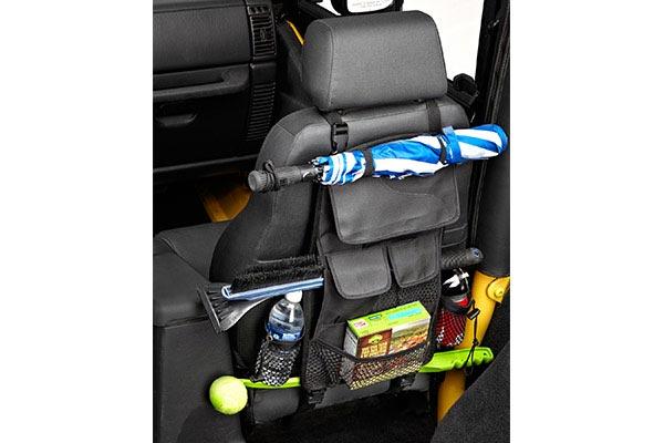 bestop roughrider soft storage seat back organizer loaded