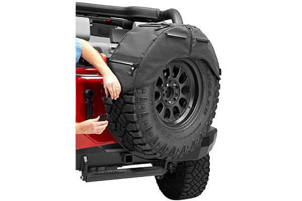bestop roughrider soft storage spare tire organizer install