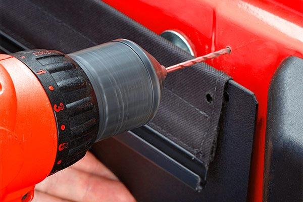 bestop roughrider soft storage tailgate organizer drill