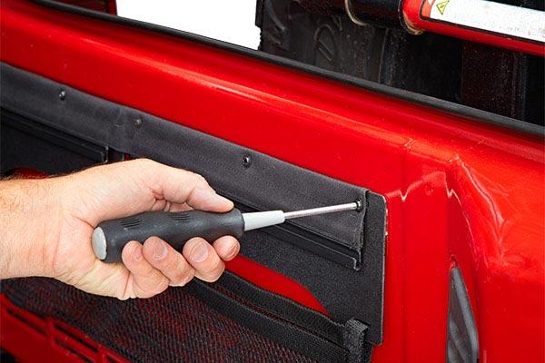 bestop roughrider soft storage tailgate organizer install