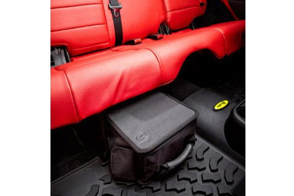 bestop roughrider soft storage under seat organizer closed