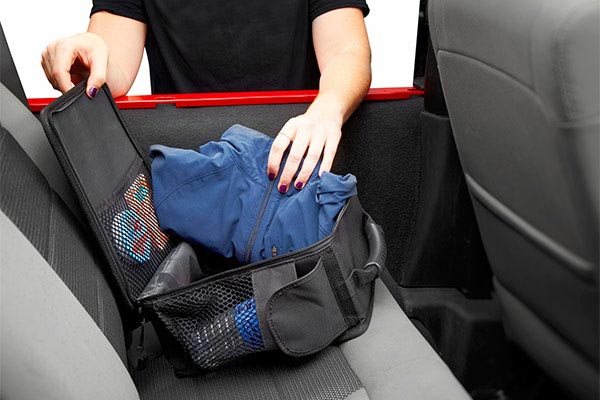 bestop roughrider soft storage under seat organizer open