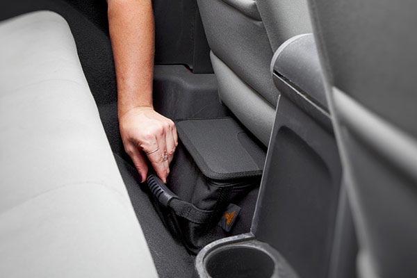 bestop roughrider soft storage under seat organizer stored