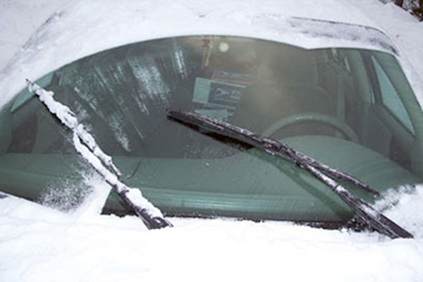 everblades heated wiper blades installed