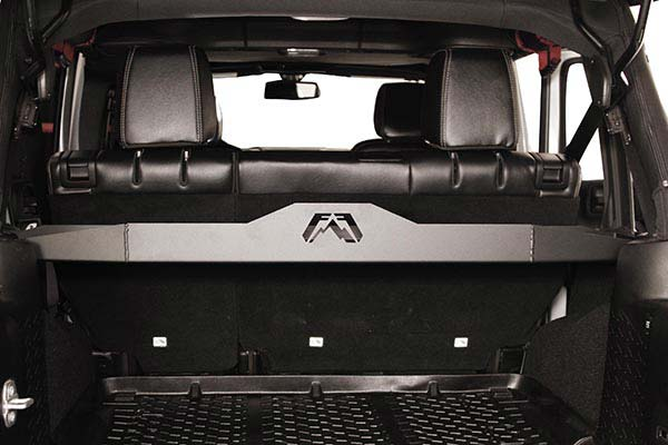 fab fours rear cargo divider installed