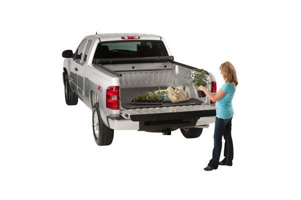 access truck bed mat with flowers