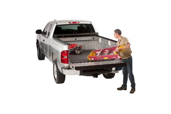 access truck bed mat with ladder