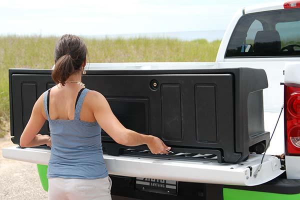rear mount design in truck bed