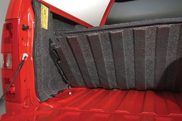 bedrug carpeted truck bed liner closeup custom formed