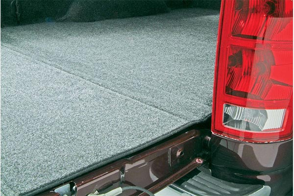 bedrug carpeted truck bed liner closeup hinge