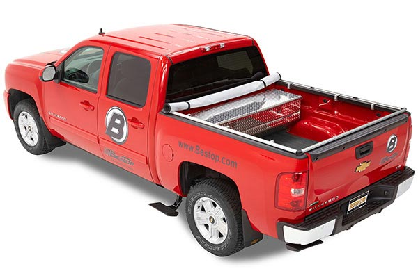 bestop trekstep retractable side mount truck bed step 1