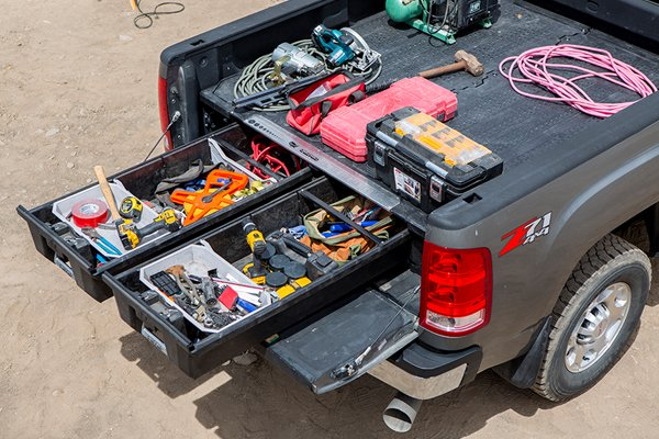 decked truck bed storage construction lifestyle