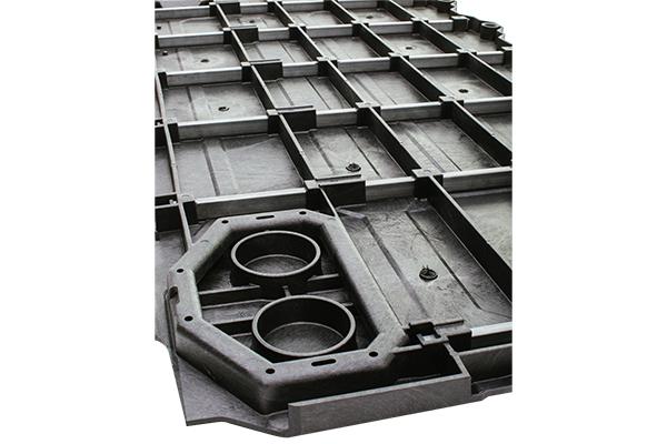 decked truck bed storage underside detail