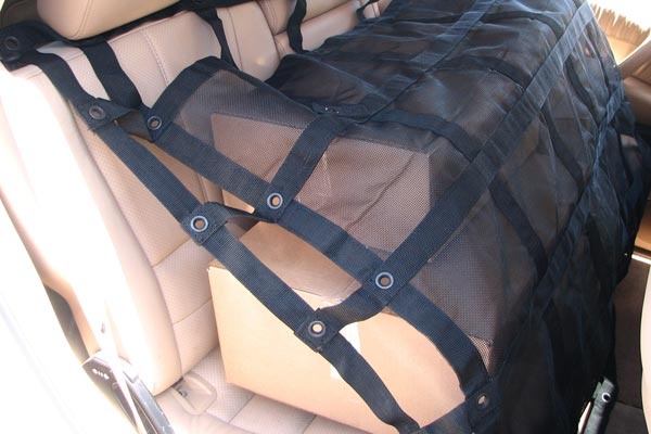 gladiator rubicon interior cargo net installed back seat