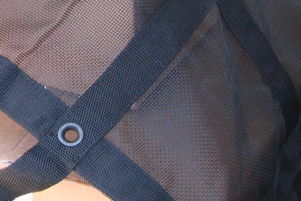 gladiator rubicon interior cargo net mesh detail