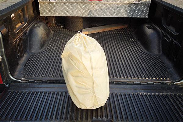 tuff truck bag in storage bag