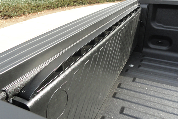 x treme gate slide out truck bed extender stowed