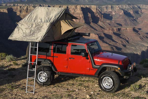 ... arb-simpson-tent-jeep-wrangler & ARB Series III Simpson Rooftop Tent - FREE SHIPPING from AutoAnything