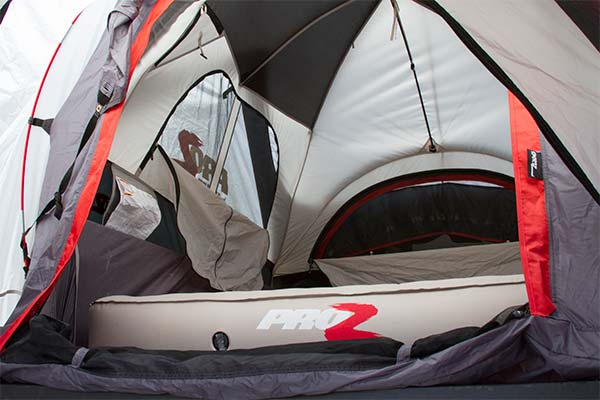 proz deluxe truck tent extension interior 3