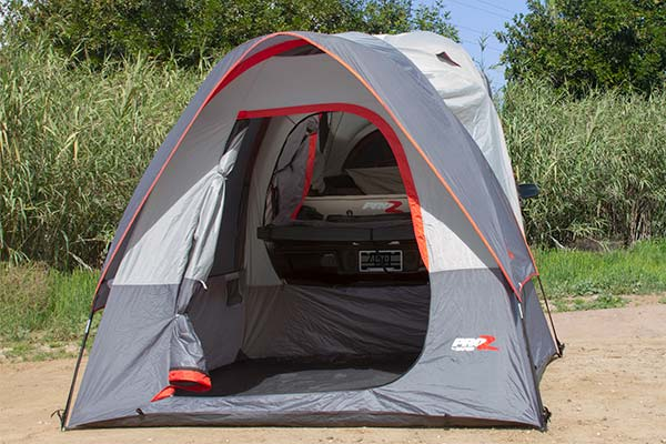 proz deluxe truck tent extension open 2
