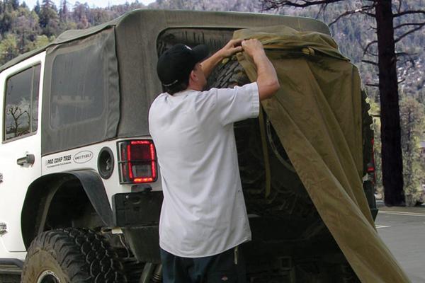 smittybilt gear trail shade install tire