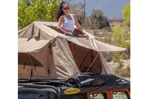 smittybilt overlander rooftop tent  sunroof