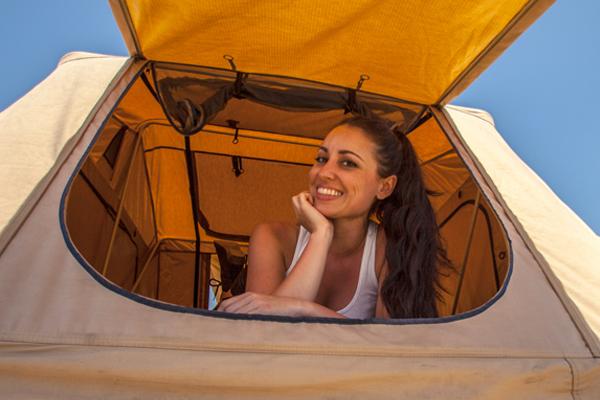 smittybilt overlander rooftop tent large entrance door