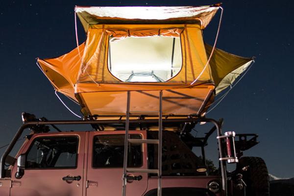 smittybilt overlander rooftop tent leds