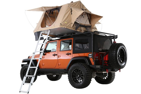 smittybilt overlander rooftop tent rear