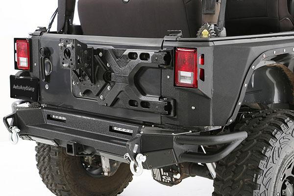 smittybilt pivot heavy duty oversize tire carrier installed