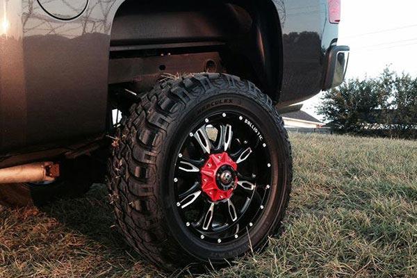 ballistic off road 953 scythe wheels closeup