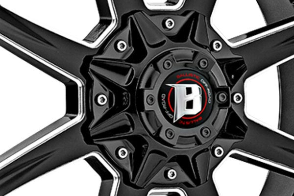 ballistic off road 956 razorback wheels center cap