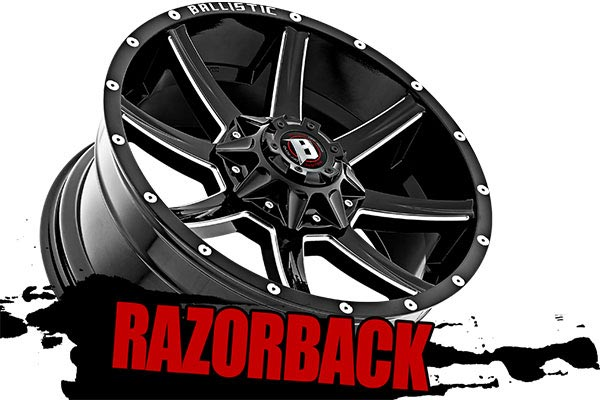 ballistic off road 956 razorback wheels darkened