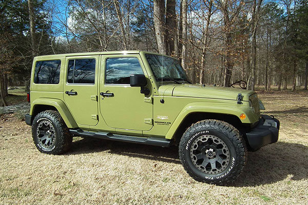 black rhino warlord wheels jeep green