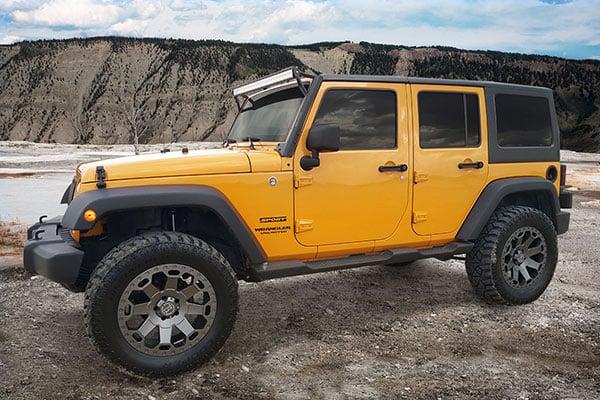 black rhino warlord wheels jeep yellow