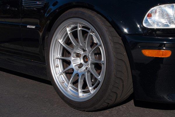 enkei nt03 plus m racing wheels bmw e46 m3 detail